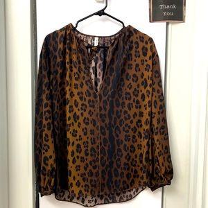 Talula leopard print blouse